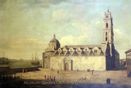 The Cathedral at Havana, 1762 painting reproduction, Dominic Serres