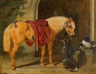 The Cavalier's Charger painting reproduction, John Frederick Herring Sr.