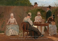 The Chalon Family in London painting reproduction, Jacques Laurent Agasse