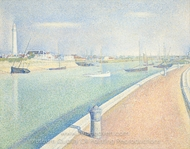 The Channel at Gravelines, Petit Fort Phillippe painting reproduction, Georges Seurat