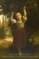 The Cherry Picker painting reproduction, William A. Bouguereau