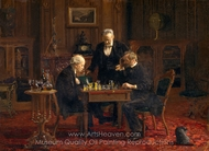The Chess Players painting reproduction, Thomas Eakins