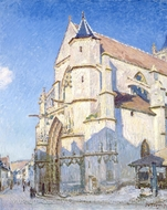 The Church at Moret painting reproduction, Alfred Sisley