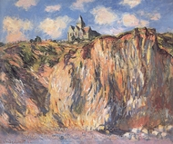The Church at Varengeville, Effect of Morning painting reproduction, Claude Monet