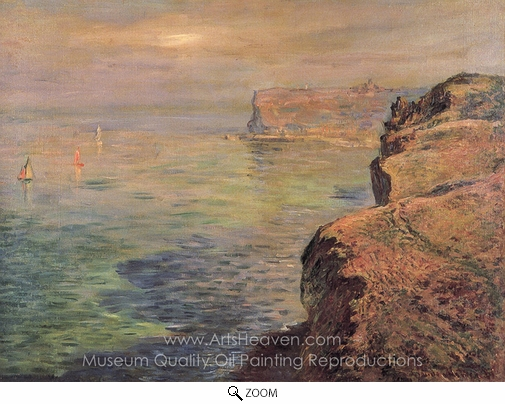 Claude Monet, The Cliff at Grainval Near Fecamp oil painting reproduction