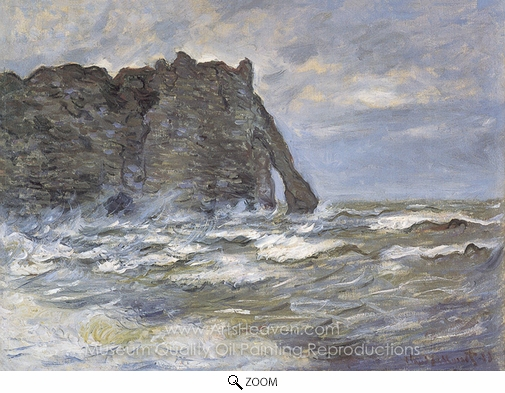 Claude Monet, The Cliff at the Porte d'Aval oil painting reproduction