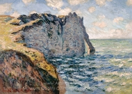 The Cliff of Aval, Etretat painting reproduction, Claude Monet