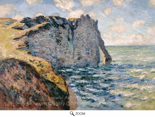 Claude Monet, The Cliff of Aval, Etretat oil painting reproduction
