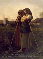 The Close of Day painting reproduction, Jules Breton