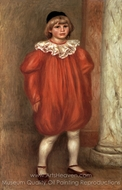 The Clown (Claude Renoir) painting reproduction, Pierre-Auguste Renoir
