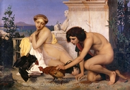 The Cock Fight painting reproduction, Jean-Leon Gerome