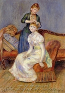 The Coiffure painting reproduction, Pierre-Auguste Renoir