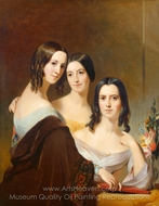 The Coleman Sisters painting reproduction, Thomas Sully