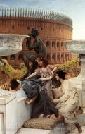 The Coliseum painting reproduction, Sir Lawrence Alma-Tadema