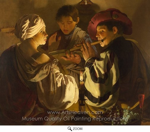 Hendrick Ter Brugghen, The Concert oil painting reproduction