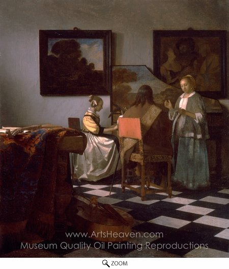 Jan Vermeer, The Concert oil painting reproduction