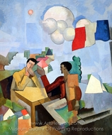 The Conquest of the Air painting reproduction, Roger De La Fresnaye