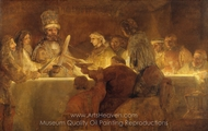 The Conspiracy of the Batavians Under Claudius Civilis painting reproduction, Rembrandt Van Rijn