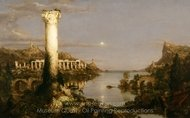 The Consummation of Empire, Desolation painting reproduction, Thomas Cole