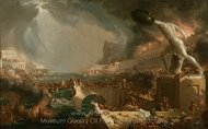 The Consummation of Empire, Destruction painting reproduction, Thomas Cole