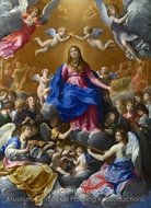 The Coronation of the Virgin painting reproduction, Guido Reni