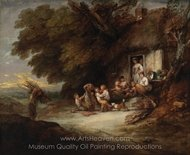 The Cottage Door painting reproduction, Thomas Gainsborough