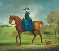 The Countess of Coningsby in the Costume of the Charlton Hunt painting reproduction, George Stubbs
