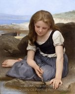 The Crab (Le crabe) painting reproduction, William A. Bouguereau