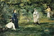 The Croquet Game painting reproduction, Édouard Manet