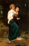 The Crossing of the Ford (Le Passage du gue) painting reproduction, William A. Bouguereau