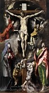The Crucifixion painting reproduction, El Greco