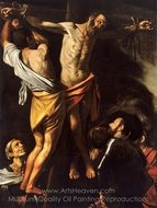 The Crucifixion of Saint Andrew painting reproduction, Caravaggio