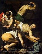 The Crucifixion of Saint Peter painting reproduction, Caravaggio