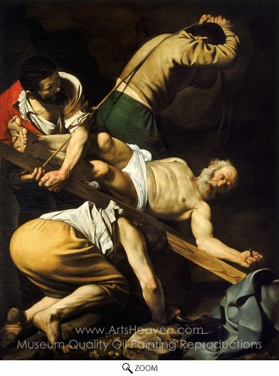 Caravaggio, The Crucifixion of Saint Peter oil painting reproduction