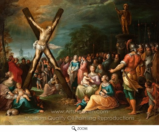 Frans Francken, The Crucifixion of St. Andrew oil painting reproduction