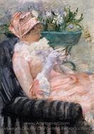 The Cup of Tea painting reproduction, Mary Cassatt