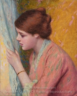 The Curiosity painting reproduction, Federico Zandomeneghi