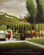 The Customs House painting reproduction, Henri Rousseau