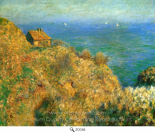 Claude Monet, The Customs Officer's Cabin at Varengeville oil painting reproduction