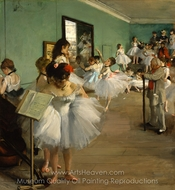The Dance Class painting reproduction, Edgar Degas
