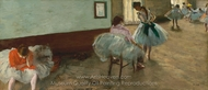 The Dance Lesson painting reproduction, Edgar Degas