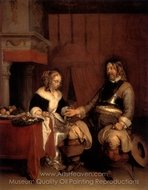The Dashing Officer painting reproduction, Gerard Ter Borch