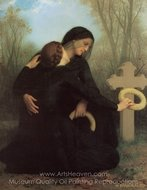 The Day of the Dead (Le Jour des morts) painting reproduction, William A. Bouguereau