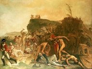 The Death of Captain James Cook painting reproduction, Johann Zoffany