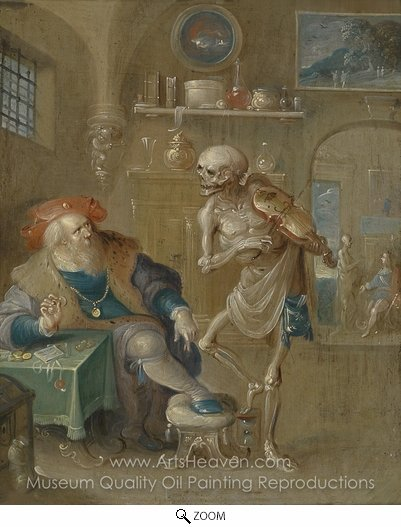 Frans Francken, The Death of Death oil painting reproduction