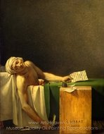 The Death of Marat painting reproduction, Jacques-Louis David