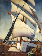 The Deck of the Birkdale painting reproduction, Herbert B. J. Everett