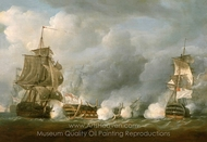 The Defence at the Battle of the First of June, 1794 painting reproduction, Nicholas Pocock