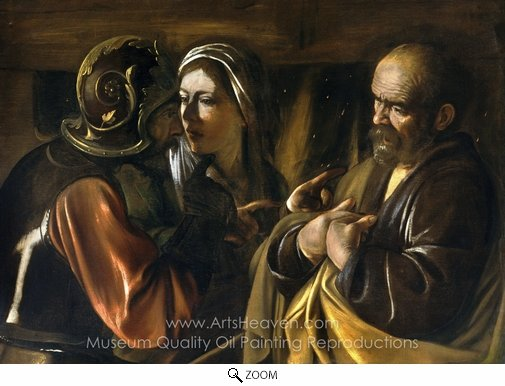 Caravaggio, The Denial of Saint Peter oil painting reproduction