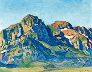 The Dents Blanches painting reproduction, Ferdinand Hodler